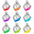 Set of Stopwatch with color arrow — Stock Photo