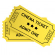 Two yellow cinema tickets — Stock Photo #28117119