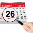 Women's Equality Day Concept. 26 August 2013 calendar with magni — Stock Photo #29104271