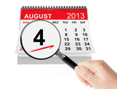 United States Coast Guard Day Concept. 4 August 2013 calendar wi — Stock Photo