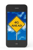 4g avant de signer avec téléphone portable — Photo
