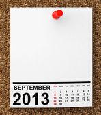 календарный сентябрь 2013 — Стоковое фото