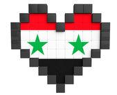 Pixel Heart as Syria Flag — Stock Photo