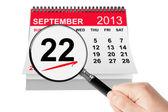 Concetto di giorno di affari americano femminile. 22 settembre 2013 calenda — Foto Stock