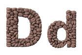 Alfabeto de grãos de café. projeto de carta d café — Fotografia Stock