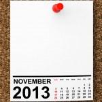 Calendar November 2013 — Stock Photo #33333641