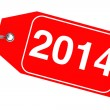 New Year 2014 tag — Stock Photo