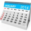 Calendar January 2014 — Stock Photo