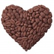 Heart from coffee beans — Stock Photo #36440803