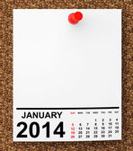 Calendar January 2014 — Stock Photo