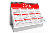 2014 year desktop calendar — Stock Photo