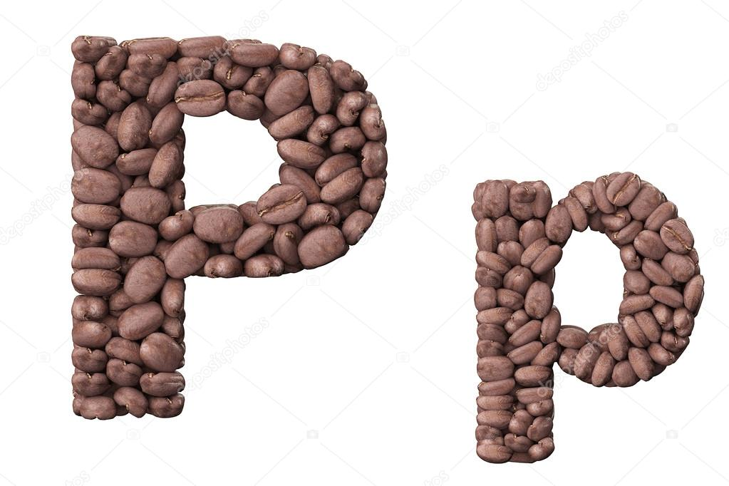Letter p Cool Designs Letter p Coffee Design