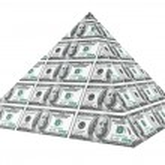 Financial concept. Abstract money pyramid — Stock Photo #39904123