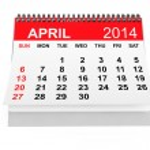 Calendar April 2014 — Stock Photo