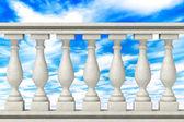 Balustrade Pillars — Stock Photo