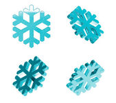 Ice Snowflakes Set — Stock Photo