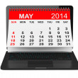 May calendar over laptop screen — Stock Photo #43597483
