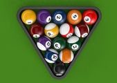 Glossy billiard balls set — Stock Photo