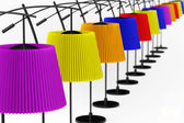 Colour balanced floor lamps — Stock fotografie