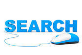 SEO Concept. Search Sign and computer mouse — Stock Photo