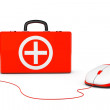 First Aid Kit and computer mouse — Stock Photo #47204473