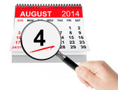 United States Coast Guard Day Concept. 4 August 2014 calendar wi — Stock Photo
