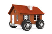 Family house on a wheels — Stock Photo