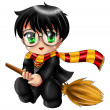 Harry Potter Chibi — Stock Photo