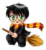 Harry Potter Chibi — Stock Photo