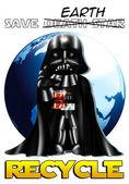 Darth Vader of Star Wars Chibi — Stock Photo