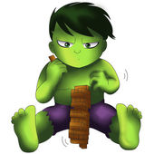 The Hulk Chibi — Stock Photo