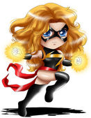 Ms. Marvel Chibi — Stock Photo
