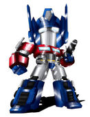 Optimus Prime Chibi — Stock Photo