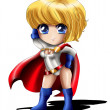 Powergirl Chibi — Stock Photo