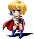 Powergirl Chibi — Stock Photo