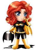 Batgirl Chibi — Stock Photo