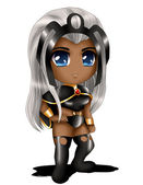 Storm Chibi — Stock Photo