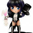 zatanna chibi — Stock Photo