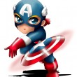 Captain America Chibi — Stock Photo