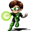 green lantern chibi — Stock Photo