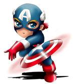 Captain America Chibi — Stock Photo