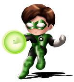 Green Lantern Chibi — Stock Photo