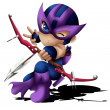 Hawkeye Chibi — Stock Photo #21230613