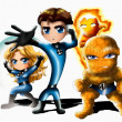 Royalty-Free Stock Photo: The Fantastic Four Chibi