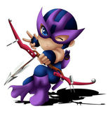 Hawkeye Chibi — Stock Photo