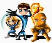 The Fantastic Four Chibi — Stock Photo
