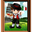 Royalty-Free Stock Photo: Cute Little Italian Boy Chibi