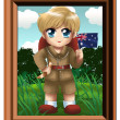 Royalty-Free Stock Photo: Cute Little Australian Boy Chibi