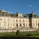 Drottningholms slott (royal palace) Stockholm, Sweden — Stock Photo