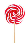 Red sweet lollipop isolated on white — Stock Photo
